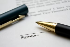 darba līguma noformēšana